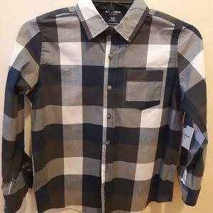 Boys plaid Button Down shirt Arizona husky